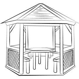6 szög filagória, pavilon